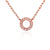 Rose Gold and Diamond Small Open Circle Geometric Necklace