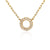 White Gold & Diamond Small Open Circle Geometric Necklace