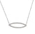 White Gold Diamond Set Marquise Geometric Necklace