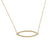 Yellow Gold Diamond Set Marquise Geometric Necklace