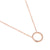 Rose Gold Open Circle Diamond Geometric Necklace