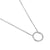White Gold Open Circle Diamond Geometric Necklace