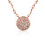 Rose Gold Pave Set Geometric Diamond Circle Necklace