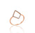 18ct Rose Gold Diamond Shape Pave Set Diamond Ring
