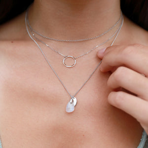 Aura Moonstone Rose Cut Necklace