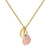 Aura Pink Opal Rose Cut Gold Plate Necklace