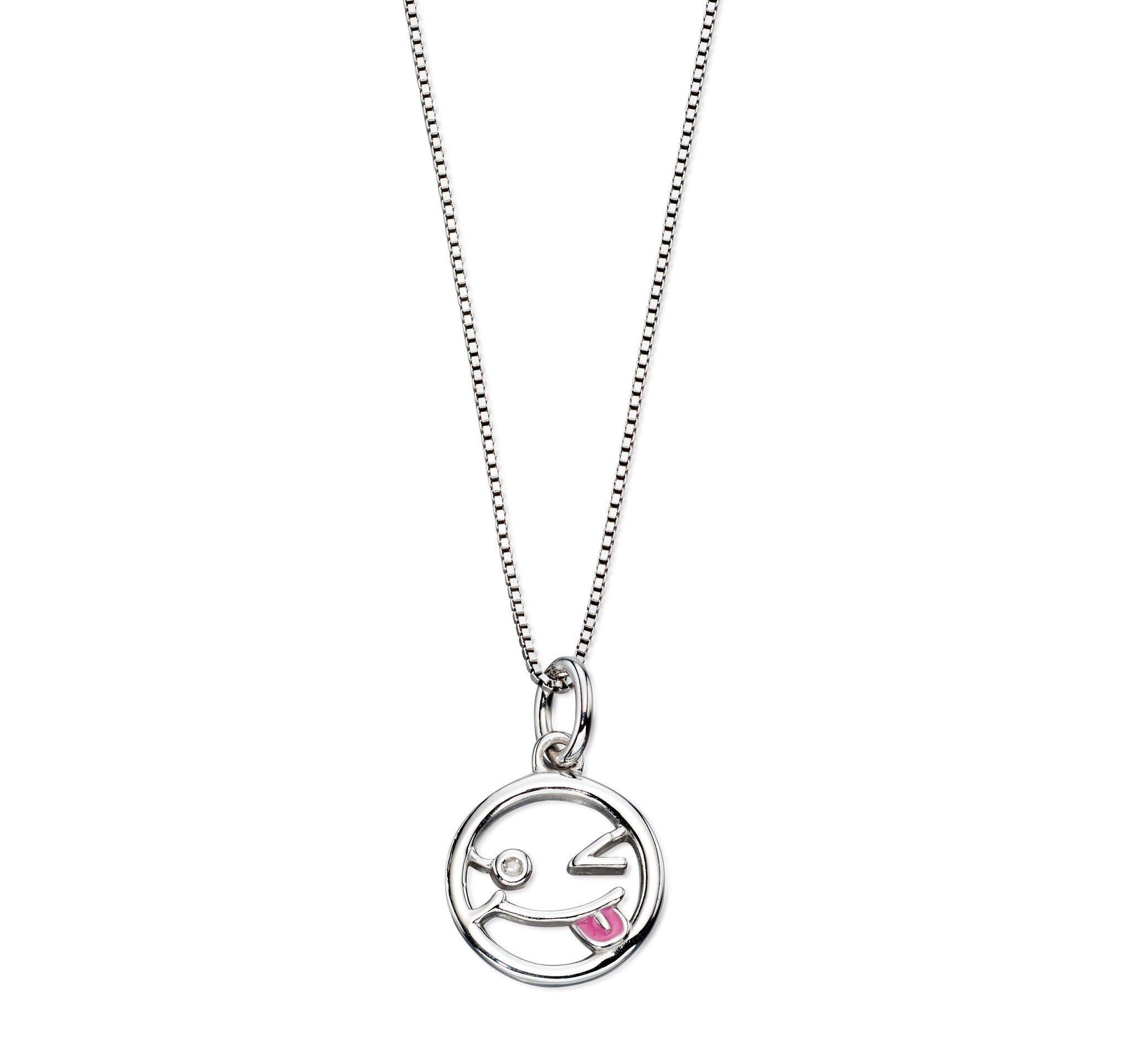 enamel sensation products cat jewellery necklace spotty