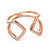 Rose Gold Plate Crystal Arrow Ring