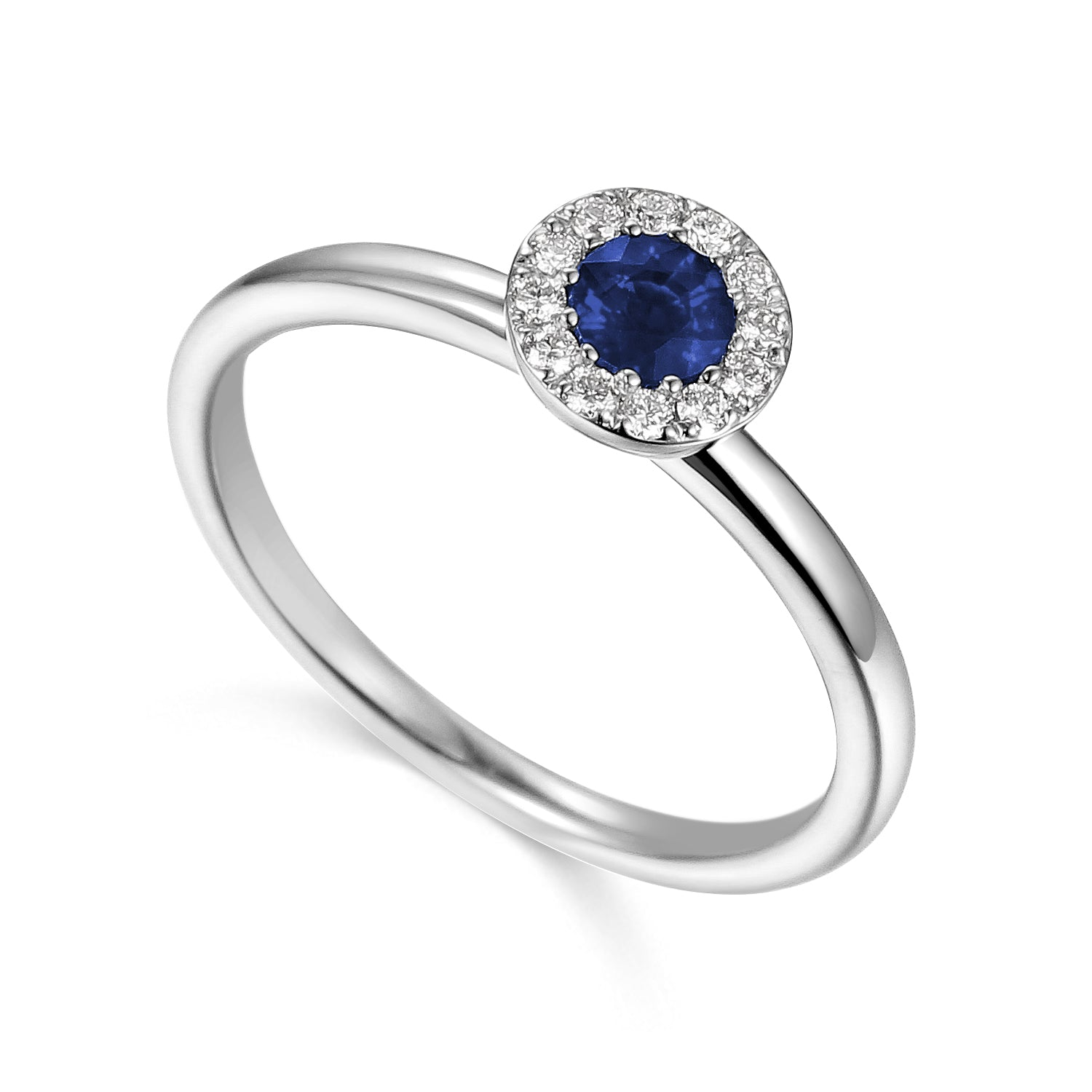 September Birthstone Sapphire Cluster 9ct Gold Ring