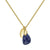 Aura September Rose Cut Gold Plate Necklace