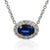 18ct White Gold Oval Sapphire and Diamond Pendant on Chain