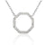 18ct White Gold Diamond Set Octagon Geometric Necklace