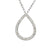 White Gold Diamond Set Pear Shape Geometric Necklace