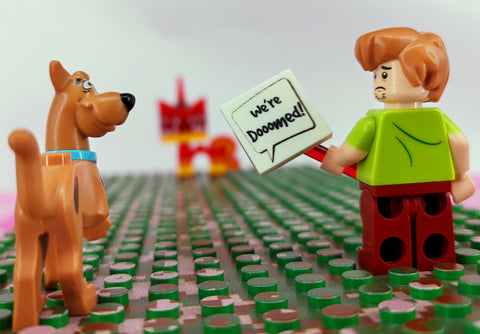 scooby dooby doo and uni-kitty bemoji lego minifigure accessory