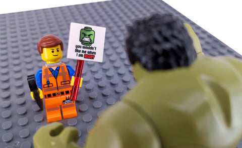 Hulk tries to smash emmet brickowski LEGO Avengers meets LEGO movie 2