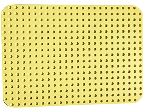 "LEGO Duplo Baseplate 15"" X 10"" ( 24 x 17 studs) Light Yellow 38 cm x 27cm Yellow"