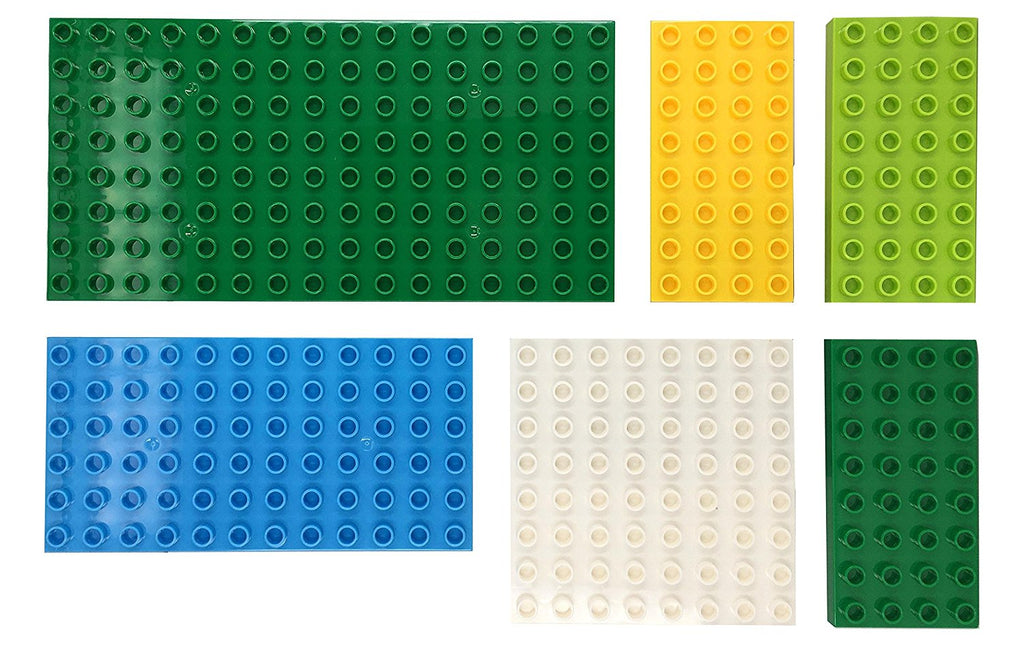 LEGO Duplo Large Dots Dark Green Baseplate Compatible Baseplate pack of 6 pcs