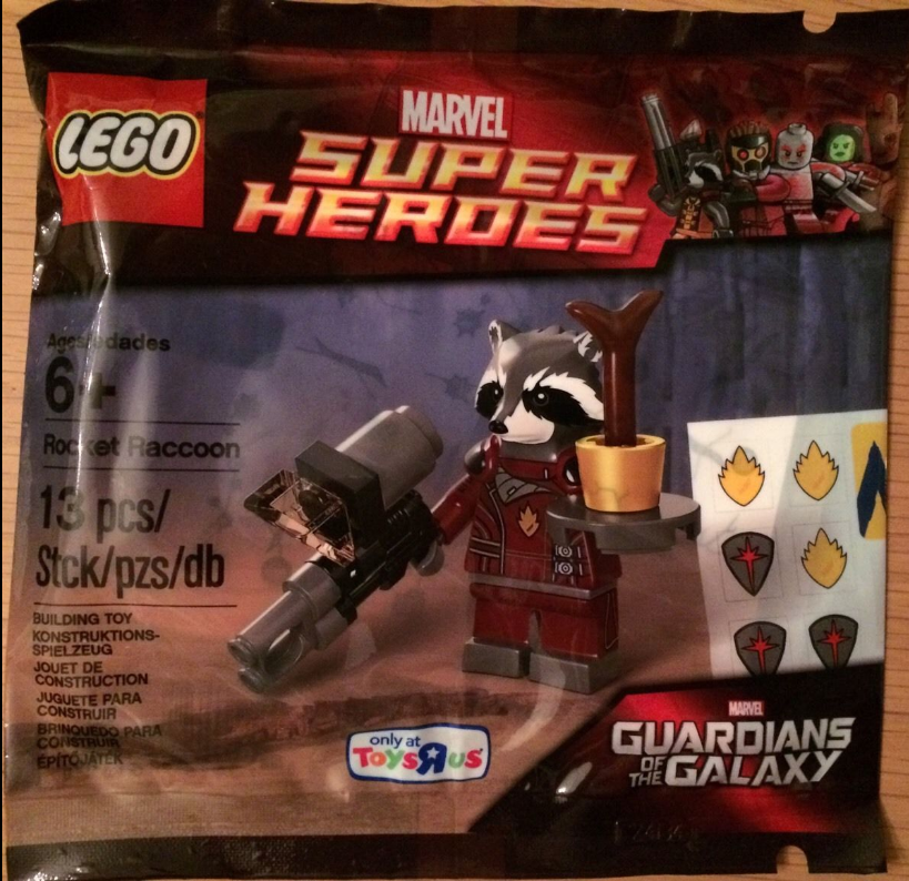 Lego Marvel rocket raccoon poly bag  Gaurdians of the galaxy rocket raccoon poly bag groot raccoon 2