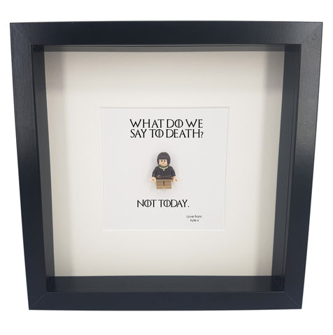 Game Of Thrones Gifts Arya Stark A Girl Has No Name  Not Today Frame