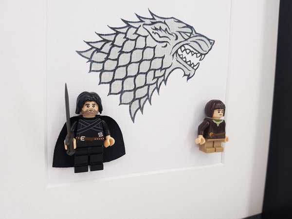 Game Of Thrones Gifts House Stark Banner Jon Snow and Arya Stark