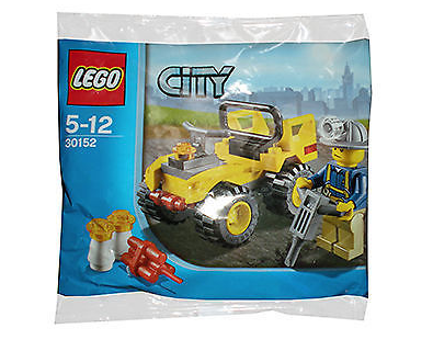 LEGO City Polybag - 30152 - MINING QUAD It is in Good condition and Unopened.