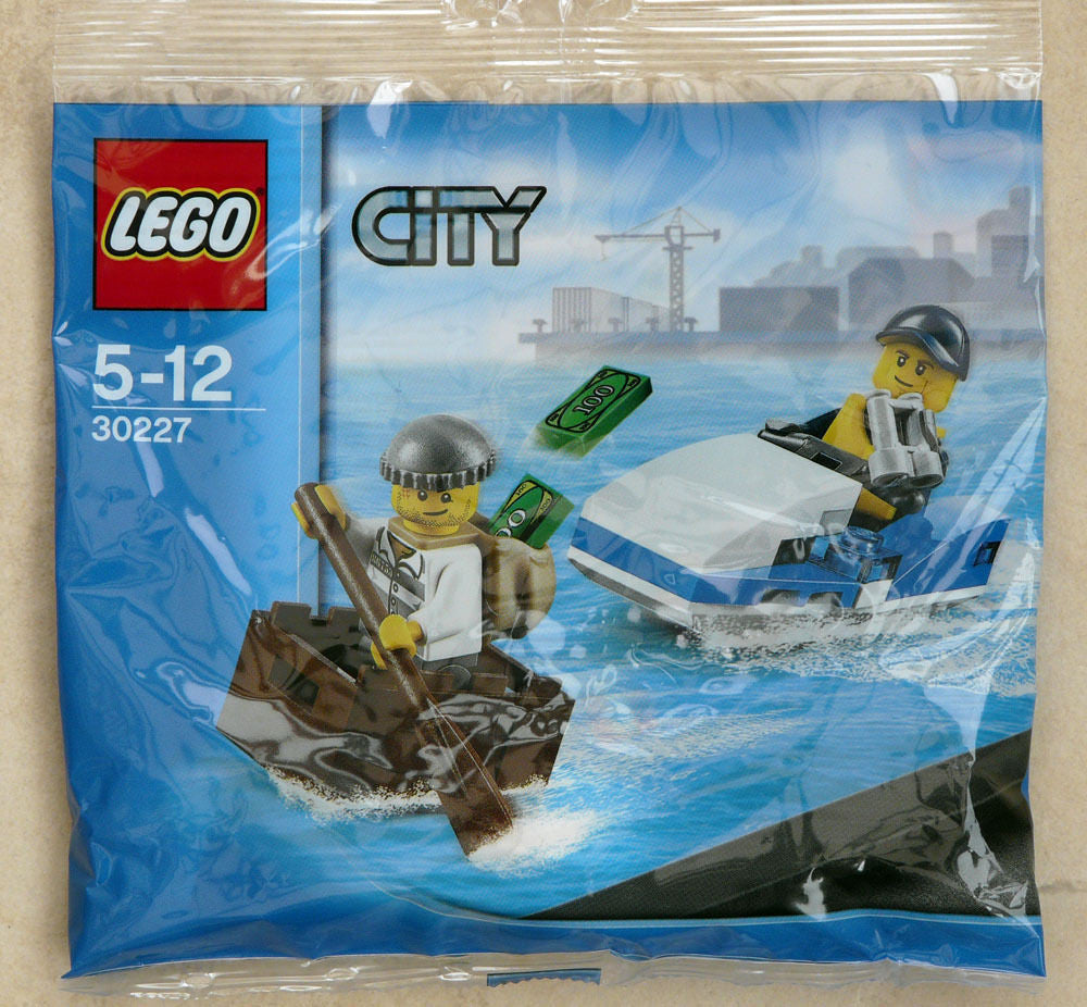 Lego 30227 Lego City 30227 Police Jet Ski Chase -New Sealed Polybag