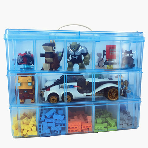 LEGO XXL Minifigure Display Box 3 (Blue)