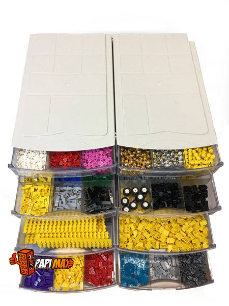 Papimax Lego Brick Organiser Drawer Stackable Lego Brick Storage Drawer Lego Storage Ideas and Solutions