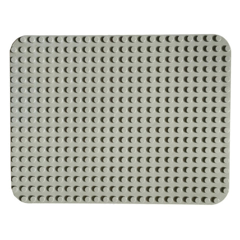 Papimax duplo compatible baseplate in light grey 24x17 studs