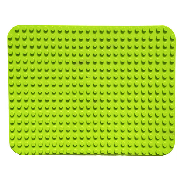 Papimax duplo compatible baseplate in light green large studs