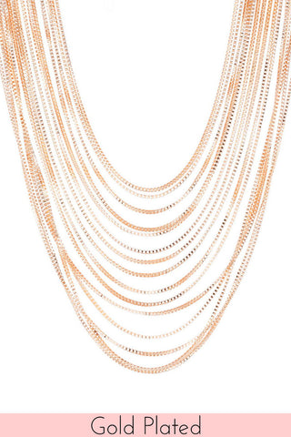 Gold Plated Titiana Long Necklace
