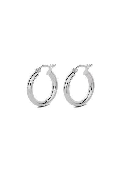 NO MORE accessories Dizzy Hoops in sterling silver