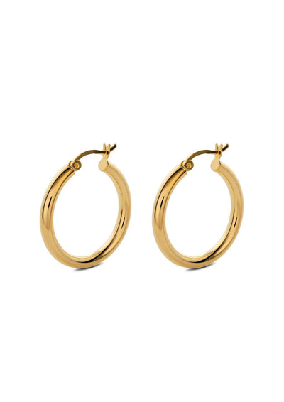 NO MORE accessories Django Hoops Gold in sterling silver.