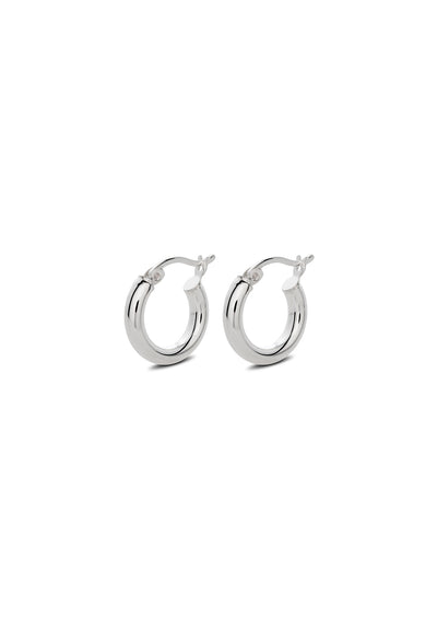 NO MORE accessories Ella Hoops in sterling silver