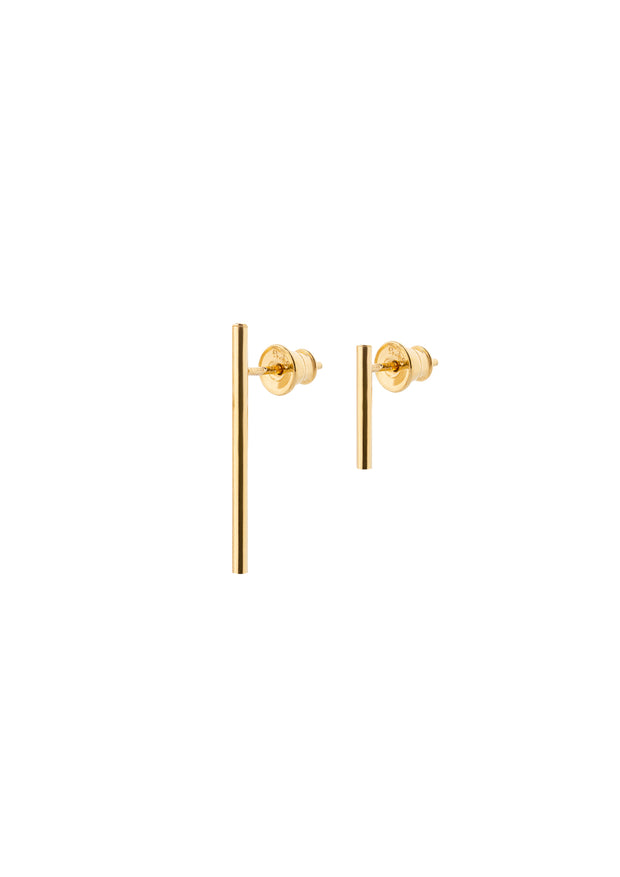 NO MORE accessories French Couple Earrings in gold plated sterling silver
