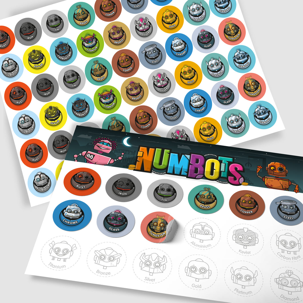 NumBots Sticker Sheet
