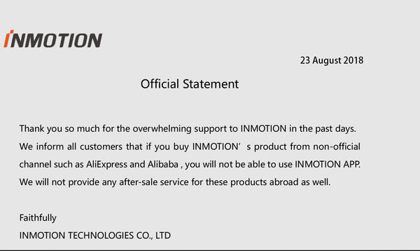 InMotion no longer offers APP support
