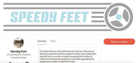 Patreon page Speedy Feet