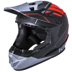 Kali Zoka Full Face Helmet - Matt Black Red & Grey