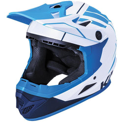 Kali Zoka Full Face Helmet - Matt White Blue & Navy-Kali-Speedy Feet