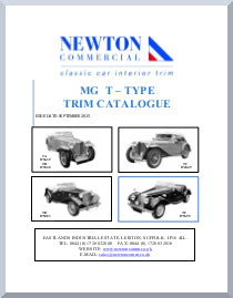 MG T-TYPE INTERIOR TRIM CATALOGUE