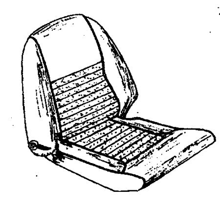 GT6 MK.2 RECLINING SEAT COVER KIT 1969-70  UK ONLY