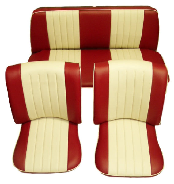 BEETLE CABRIO 65-72 TWOTONE FRONT & REAR SEAT COVERS (2 POINT)