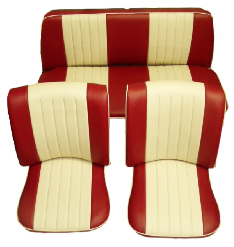 BEETLE CABRIO 73on TWOTONE FRONT & REAR SEAT COVERS (3 POINTS)