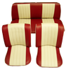 BEETLE SALOON TWO TONE 56-64 FRONT & REAR SEAT COVERS (2 POINT)