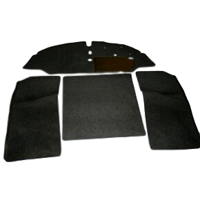 4 PIECE SET SPLIT SCREEN 61-67 RHD NYLON (BENCH SEAT)
