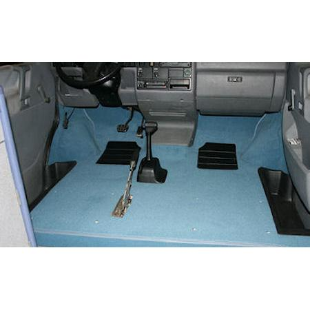 T4 LHD FULL FRONT CAB CARPET SET...WALK THRU MODELS