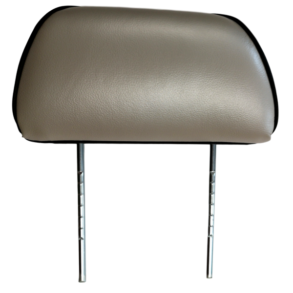 COMPLETE TWIN POST LEATHER HEADREST