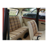 MINI FRONT SEAT COVERS -VINYL & PLAID CLOTH (AS PER MINI 1100 SPECIAL + MINI HL SALOON AND CLUBMAN ESTATE))