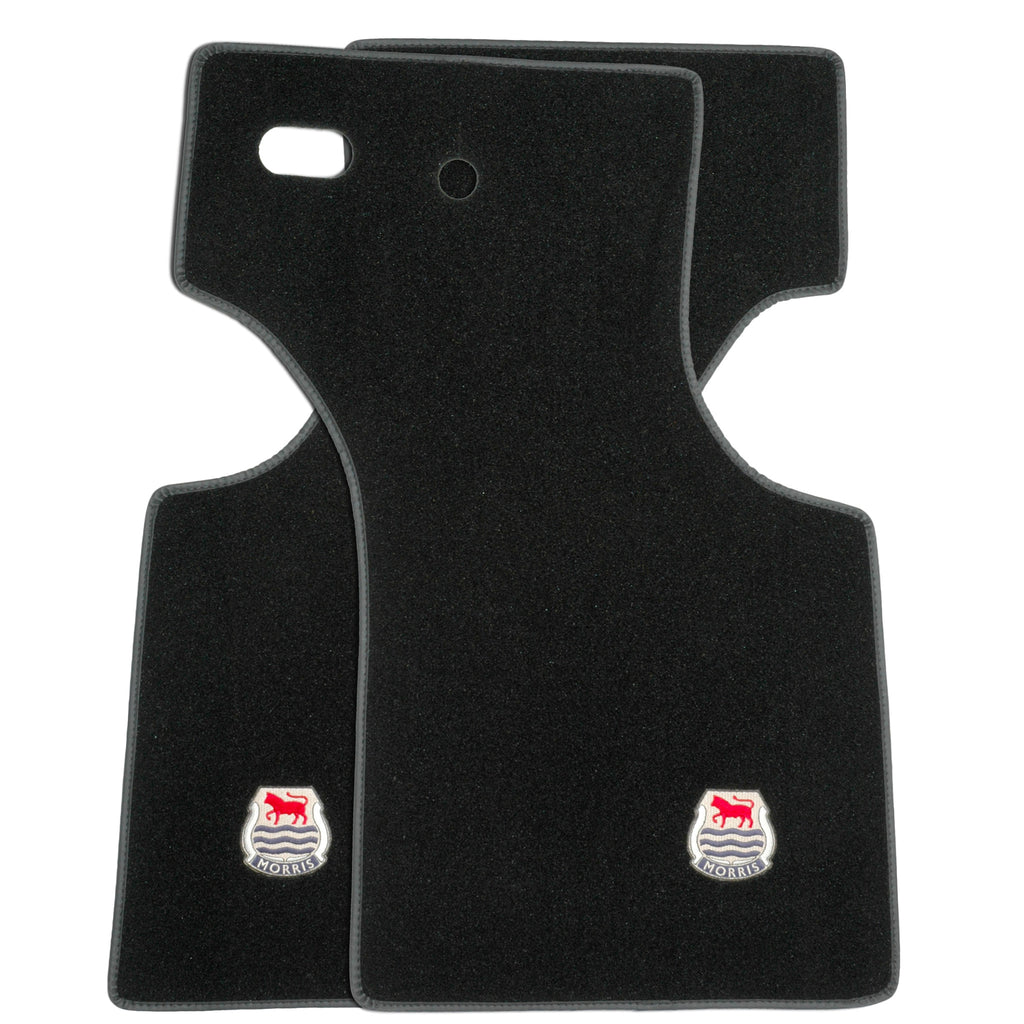 PAIR OF OVERMATS WITH OFFICIAL MORRIS LOGO-RHD
